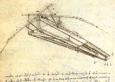 A photograph of a pen and ink drawing on aged parchment paper shows a triangular-shaped contraption with a seat, strap and long hinged arms. Parts are identified by letters and nearby cursive writing provides a description.