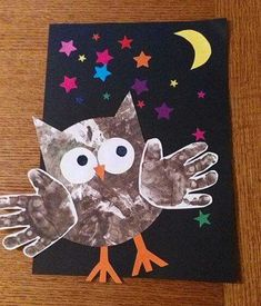 animal crafts for kids Owl Eule Easy Fall Crafts, Fall Crafts For Kids, Art For Kids, Kids Crafts, Arts And Crafts, Animal Crafts For Kids, Toddler Crafts, Fall Preschool, Preschool Crafts