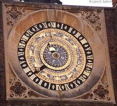 A close-up of Henry VIII astronomical clock at clock gate in HCP