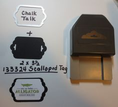 Chalk Talk + Scalloped Tag = great layer! -  Laura Leuenberger