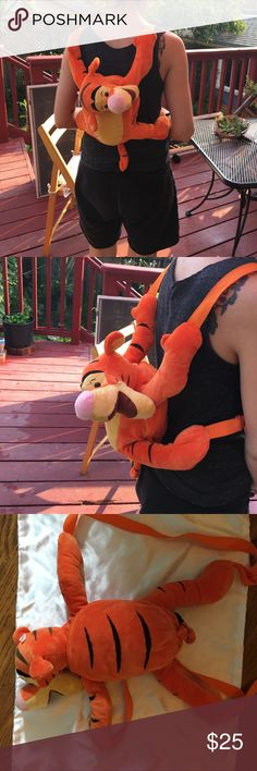 NWT- brand new Tigger animal backpack NWT- brand new Tigger animal backpack purchased at Disneyland Disney Bags