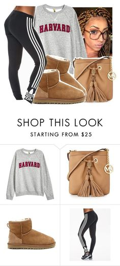 """""""Sweater weather"""" by eazybreezy305 ❤ liked on Polyvore featuring MICHAEL Michael Kors, UGG Australia, adidas Originals, cute, sweaterweather and Fall2016"""