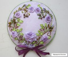 Wonderful Ribbon Embroidery Flowers by Hand Ideas. Enchanting Ribbon Embroidery Flowers by Hand Ideas. Ribbon Embroidery Tutorial, Silk Ribbon Embroidery, Crewel Embroidery, Embroidery Kits, Cross Stitch Embroidery, Machine Embroidery Designs, Ribbon Art, Fabric Flowers, Needlework