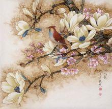 Chinese Stijl DIY Diamant Schilderen steentjes kruissteek kit bloem & vogel borduurwerk kralen foto handgemaakte hobby(China (Mainland))