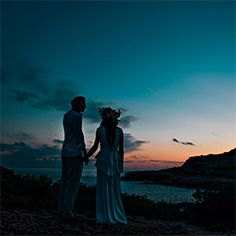 Blissful sunset wedding photograph taken by UK photographer Jay Rowden