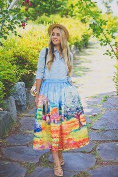 Que falda!