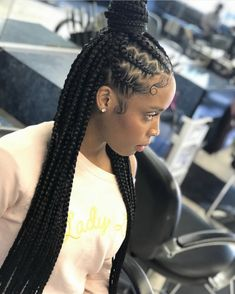 35 Stunning Feed in Braids Hairstyles To Try This Year! - Part 41 - HairstyleHub - 35 Stunning Feed in Braids Hairstyles To Try This Year! - Part 41 35 Stunning Feed in Braids Hairstyles To Try This Year! Feed In Braids Hairstyles, My Hairstyle, African Hairstyles, Weave Hairstyles, Girl Hairstyles, Black Hairstyles, Fashion Hairstyles, Hairstyles Pictures, 2 Feed In Braids