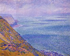 """""""The Cap Gris Nez"""" by Theo van Rysselberghe, Completion Date: 1900, Style: Pointillism."""