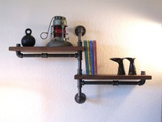 Industrial Plumbing Pipe Shelf Two Tier by vintagepipedreams @Etsy