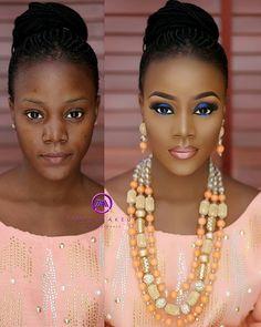 #inspiração do dia Mua @tintsmakeupproModel @laular_1 Asooke n beads by @ariesbeadnasooke Por que hoje é sexta!!!#tintsmakeuppro #tintsmakeupschool #tintsmakeupbride #itgirlsbrazil #love #follow #linda #bride #make #makeup #beforeandafter #antesedepois #motd #vegasnay #anastasiabeverlyhills #laurag_143 #photoshoot #sexta #fds #maquiagem #princess  #night #boanoite ❤