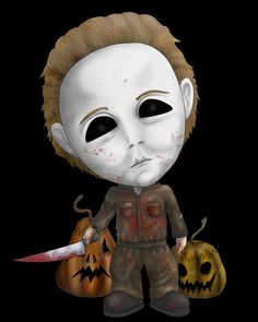 Michael Myers by Lauramei on DeviantArt Looks Halloween, Halloween Movies, Halloween Horror, Scary Movies, Halloween Images, Halloween Cosplay, Halloween Makeup, Halloween Costumes, Horror Cartoon