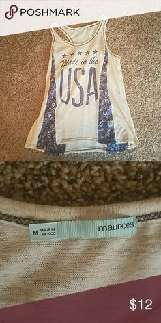 NWOT MAURICES TANK Nwot maurices tank. Medium perfect condition! Smoke free home Maurices Tops Tank Tops