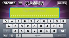 Mad Libs (0.00 + iAP options) -Use your camera to add your own photo or image to your story  -Use voice recognition to enter your funny, silly words! -Share your stories