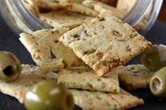 Grain Free Olive Garlic Crackers Recipe photo