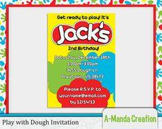 Play in Dough Birthday Invitation