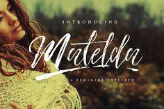 Matelda by Revnede on @creativemarket Handwritten Script Font, Script Type, Cursive Calligraphy, Cool Fonts, New Fonts, Pretty Fonts, Beautiful Fonts, Brush Type, Brush Font