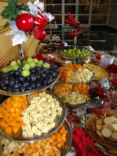 Assorted cheeses in your display makes sure that there is something for everyone.