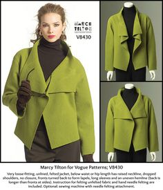 Shop Marcy Tilton for Vogue Patterns at http://voguepatterns.mccall.com/v8430-products-8005.php?page_id=4450