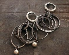 USE CODE • SALE 10 -15 % off • multi circle oxidized silver earrings • Valentine's day Gift for her • Handmade jewelry • Inspirational gift