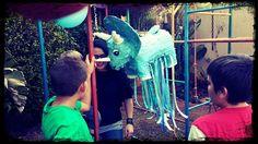 Dinosaur Party. Custom triceratops piñata from www.pinatas.co.za