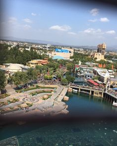 The view from the Ferris wheel at California adventure  by karinaaaaa091