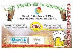 Realizará su tradicional Fiesta de la Cerveza el sábado 1 de Octubre