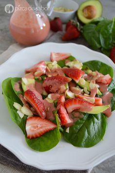 Ensalada de espinaca con fresas www.pizcadesabor,com