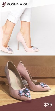ASOS Pitcher Pointed High Heels -Apricot The shoe color is more baby pink than it is apricot. Asos Shoes Heels