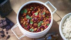 BBC - Food - Recipes : Bruno Loubet's bean and vegetable chilli; this looked amazing on Kew on a Plate. Got to try it some time