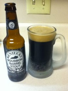 Kentucky Bourbon Barrel Stout. Brewed with coffee beans in the barrels. Very strong coffe taste. Delicious.