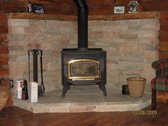 Wood Stove, the stone becomes a radiant heat source and stays warm after the fire goes out.