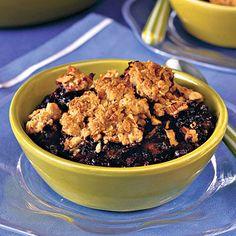 Healthy Desserts: Blueberry-Almond Cobbler