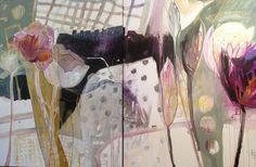 Drawn Curtains Diptych Dorothy Skeados Ganek