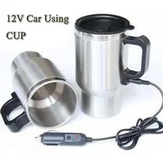 12v 750ml Stainless Steel Car Auto Adapter Heated Travel Mug Thermos Heating Cup Kettle Car Coffee Cup Elegant Shape Car Electrical Appliances Car Electronics