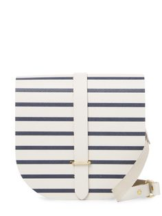 The Cambridge Satchel Company Saddle Stripes Crossbody Bag Cambridge Satchel, Leather Crossbody Bag, Stripes, Shoulder Bags, Summer, Fashion, Moda, Summer Time, Fashion Styles