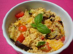 Couscous con verdure grigliate e tofu al curry