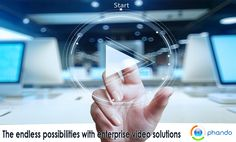 "When we think of #enterprise video solutions or video #streaming we often only think about using the platform in areas such as entertainment including let's say a game being live streamed for the employees of an organization, mass communication, remote streaming of town hall meetings etc. Read an interesting blog on ""The endless possibilities with enterprise video solutions"" at : http://www.phando.com/home/the-endless-possibilities-with-enterprise-video-solutions/ For enterprise video…"