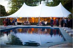 An exquisite poolside reception venue.