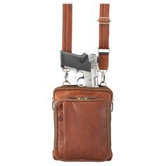 Leather Concealed Carry Shoulder Handbag by Gun Tote n Mamas