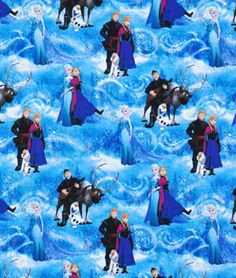 Shop Springs Creative Disney Frozen Elsa & Ana Glitter Patch Fabric at onlinefabricstore.net for $7.5/ Yard. Best Price & Service.