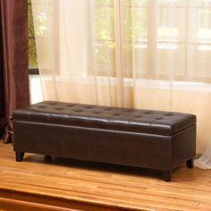 costco sale 149 samuel bonded leather storage bench - Leather Storage Bench