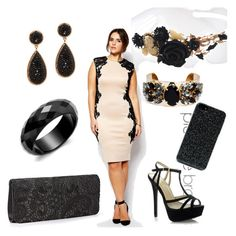 Plus size occasion in black and make up by stupendam on Polyvore featuring polyvore, fashion, style, AX Paris, ALDO and Zero Gravity