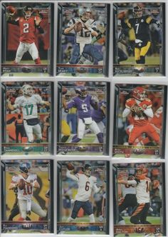 "2015 Topps Chrome Football ""All Quarterback Lot"" (9) CARDS!!  Sweet!!"