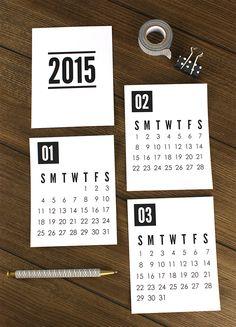 Calendario 2015 // 2015 Printable Calendar
