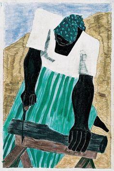 18-15n-77-30w:    drawpaintprint:    Jacob Lawrence: Harriet Tubman Series no. 7 (1940)    Afro-Women!!!