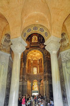 "Basilica of San Vitale - ""The exquisite Ravenna mosaics"" by @Kathryn Whiteside Burrington"