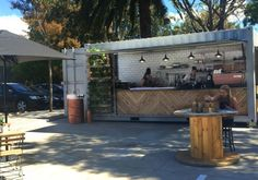Sydney's newest tiny specialty coffee and food bar opens this week. Shipping Container Cafe, 20ft Container, Cafe Bistro, Interior Exterior, Bar, Stylus, Alexandria, Places To Eat, Interior Inspiration