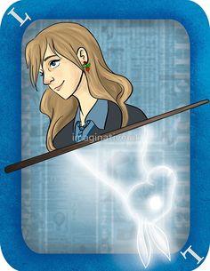 Luna Lovegood Playing Card by imaginativeink