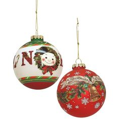 Mark Roberts Assorted Christmas Wishes & Noel Ornaments - Set of 2 ($9.97) ❤ liked on Polyvore featuring home, home decor, holiday decorations, no color, christmas home decor, christmas ornament sets, holiday ornaments and noel christmas ornament