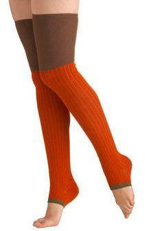 Pumpkin Patch Socks, #ModCloth